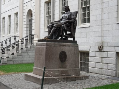 Statue of John Harvard, Cambridge, Massachusetts