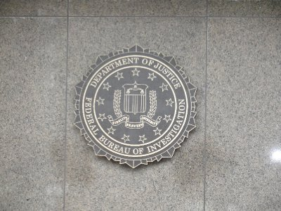 Federal Bureau of Investigation Seal Outside J Edgar Hoover Building, Washington, DC