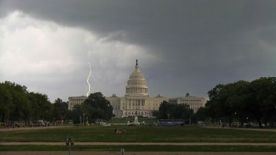 Lightning Over the Captiol, Washington, DC