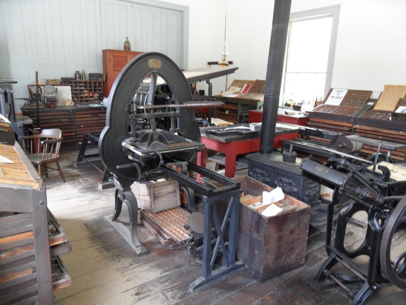 Printing Press, Black Creek Pioneer Village, Toronto, Ontario
