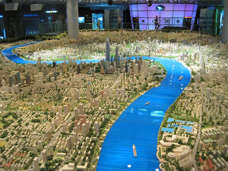 Model of Shanghai at the Urban Planning Museum