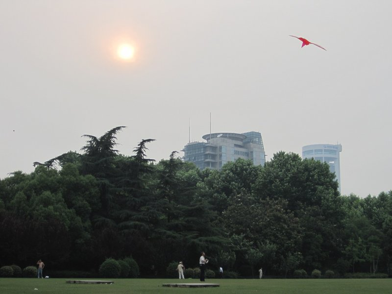Kite Flying in Fuxing Park, Shanghai