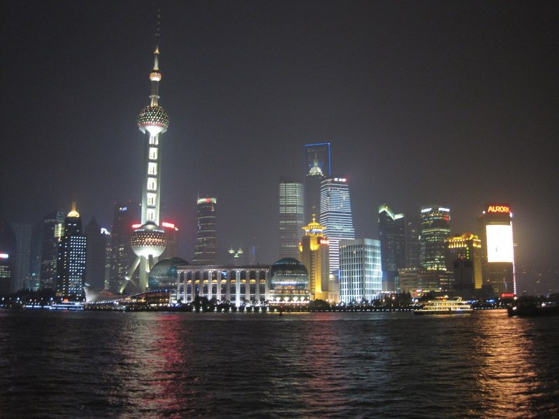 View from the Bund at Night, Shanghai