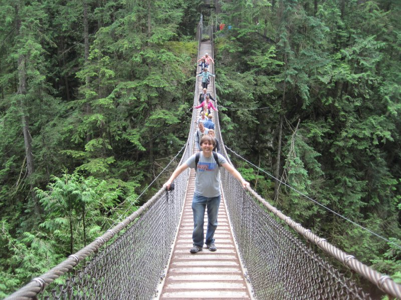 Ben on Lynn Canyon Suspension Bridge, Vancouver, British Columbia