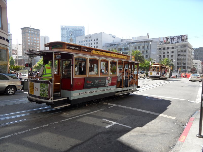 Powell and Mason Cable Cars, San Francisco