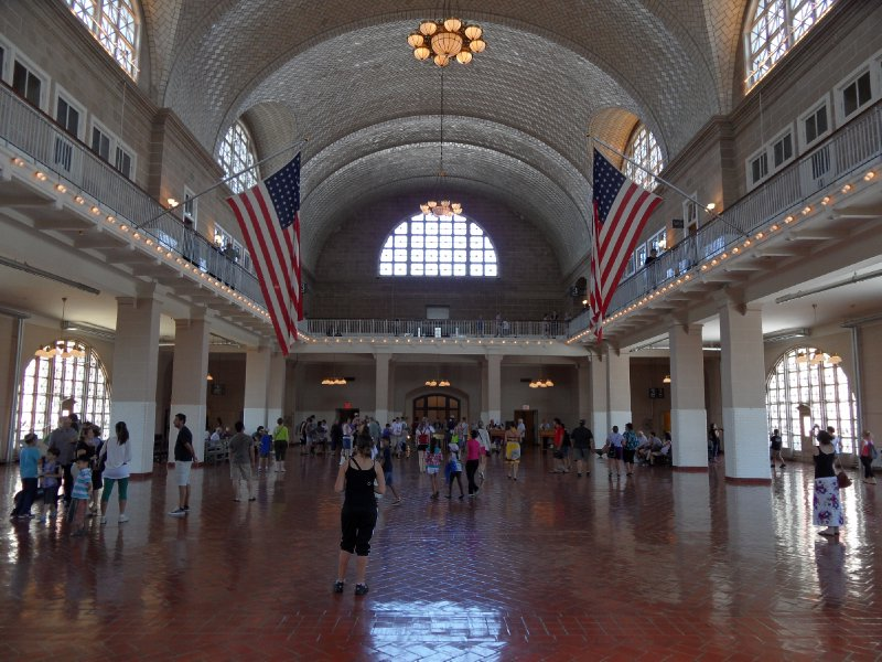 Great Hall, Main Building, Ellis Island, New York