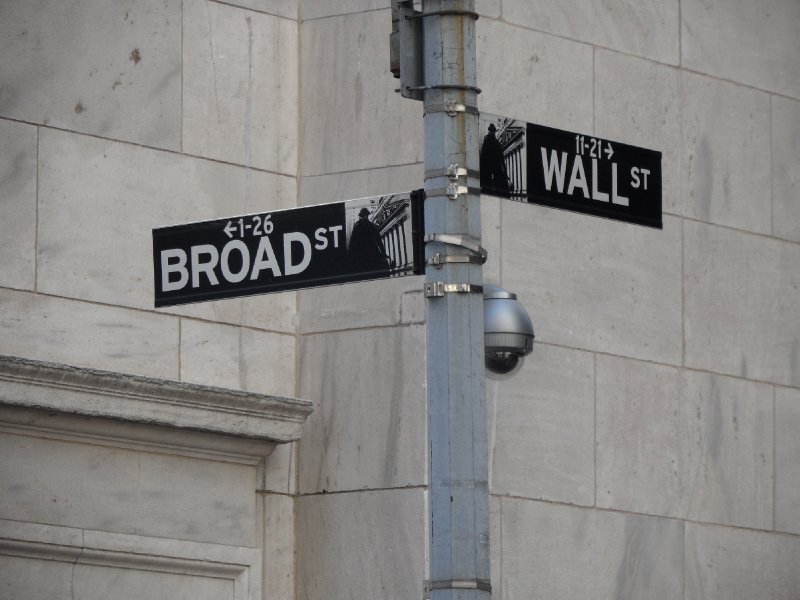 Wall Street and Broad Street Signs, New York