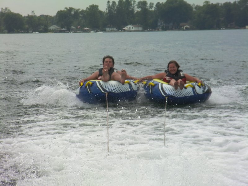Tubing on Lake Simcoe, Ontario
