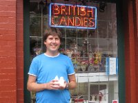 Outside British Candy Shoppe, Victoria, British Columbia