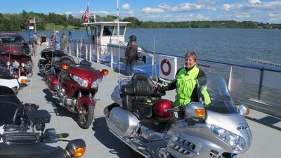 18 Hazel on Ferry at the Americade Motorcycle Rally in Lake George, NY (800x449)