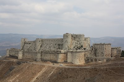 Crac des Chevaliers - From afar (spot the car)