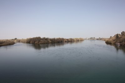 Deir Ez-Zor - View of Euphrates from the Suspension Bridge
