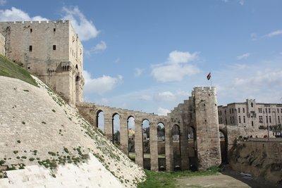 Aleppo - Citadel entrance walkway