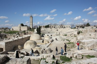 Aleppo - Ruins inside the Citadel