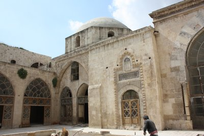 Aleppo - The Remains of the Cathedral of St Helen inside Madrassa al-Helwiyye