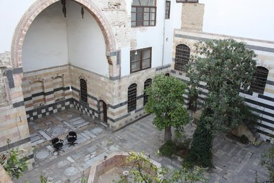 Damascus - Beit Siba'i - One of its Central Courtyards (in the traditional Damascene courtyard style)