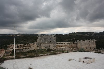 Qala'at Salah ad-Din - Intact remains and stormy clouds
