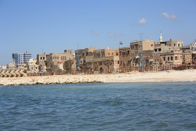 Tartous - Old City Facade from Boat to Arwad