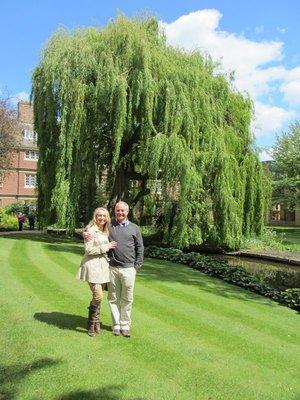David & Sarah at Cambridge