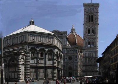 panorama of baptistry and Duomo