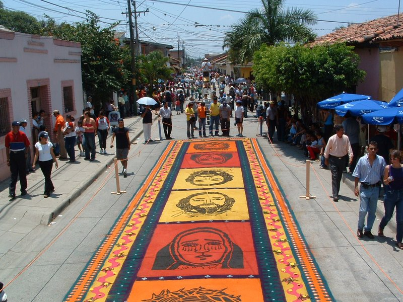 Sawdust rugs of Comayagua
