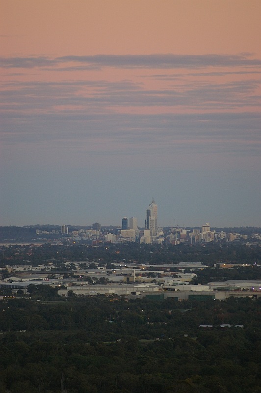 Sunrise over Perth