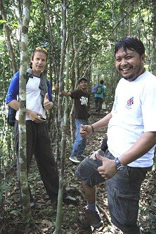 Scaling the Gunung Arong slopes behind Tanjung Arong