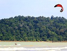 Kite-surfing off Tanjung Resang