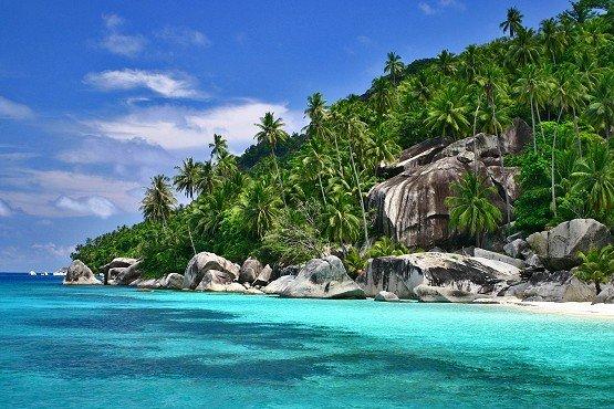 Private Beach off Tanjung Resang