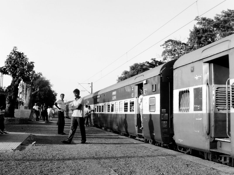 taking a train in India to Goa