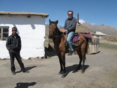 Martin is invited to ride a horse in Kyrgyzstan