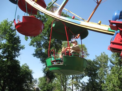 Maurice and Anne on a ferris wheel, Dnipropetrovsk, Ukraine