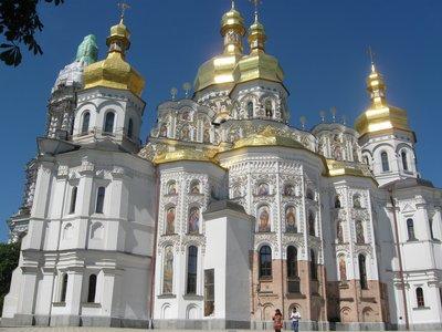 Wonderful Domes at the Caves Monastries, Kiev, Ukraine