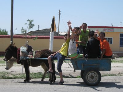 Donkeys still play a large part in Central Asia