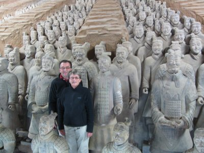 Jeanette and Martin at the Terracotta Warriors, Xian