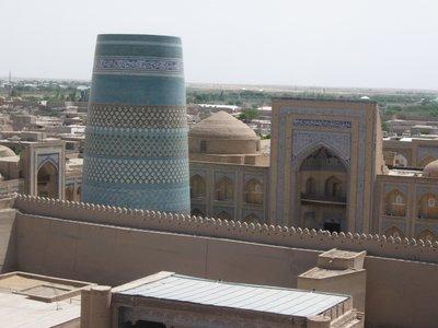 Khiva minaret and sky line