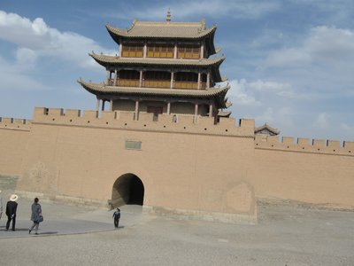 The great fort at the Jiayu Pass, Hexi Corridor, Gansu Province