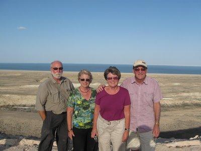 At rhe Aral Sea