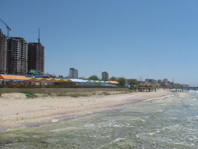 The Caspian Sea by the city of Aktay