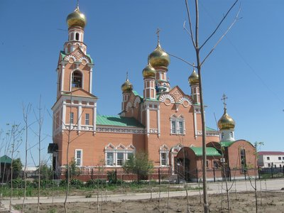 Russian Orthodox Church, Atyrau, Kazakhstan - top of the Caspian Sea