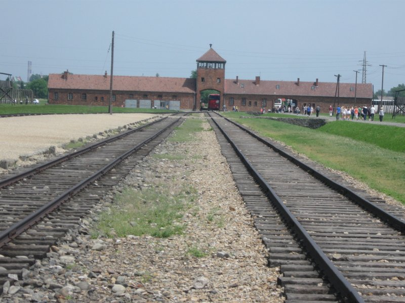Birkenau railway which brought victims to the gas chambers