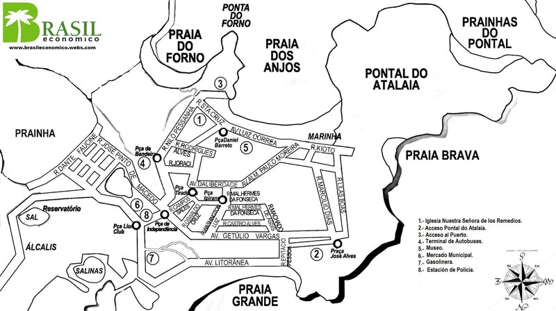 Arraial do Cabo Map