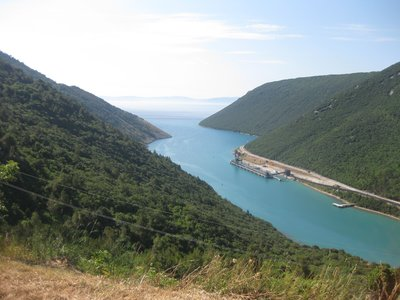Plomin Gorge, at this near end is the power station