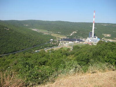 And the power station, why it`s just there!