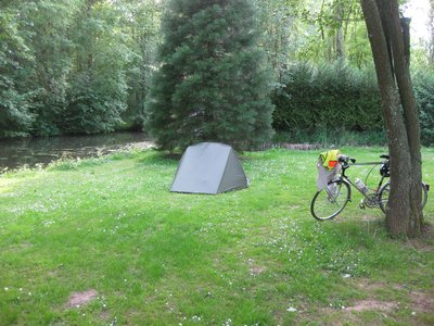 A scene from Boulencourt.. starring again .. my tent.