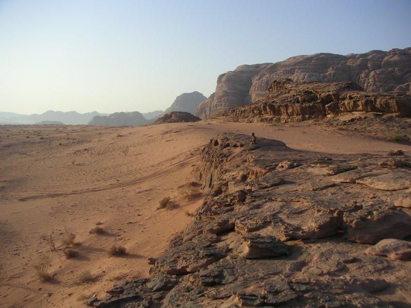 Meditating in the desert