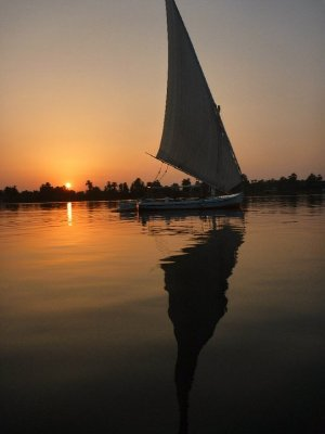 Felluca sailing on the Nile