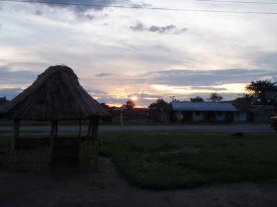 Sunset in Katunguru