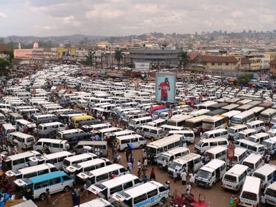 Kampala's Taxi Park (Not my photo)