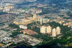 An aerial view of the greater Puchong